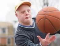 Special Olympics Day at the Big E Adult Down Syndrome Basketball